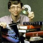 Bill gates, giovanissimo con una rivoluzione tecnologica tra le mani