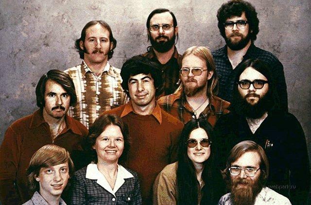 team di IBM con Bill Gates