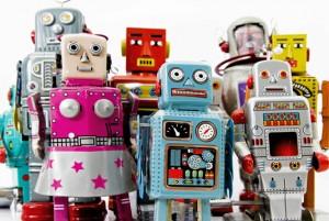 società di robot reciclati